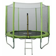 North Gear 8 Foot Trampoline Set with Safety Enclosure and Ladder
