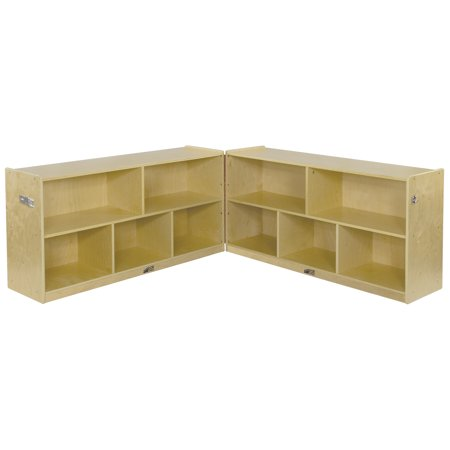 - Birch 5-Compartment Fold and Lock Cabinet 24in H