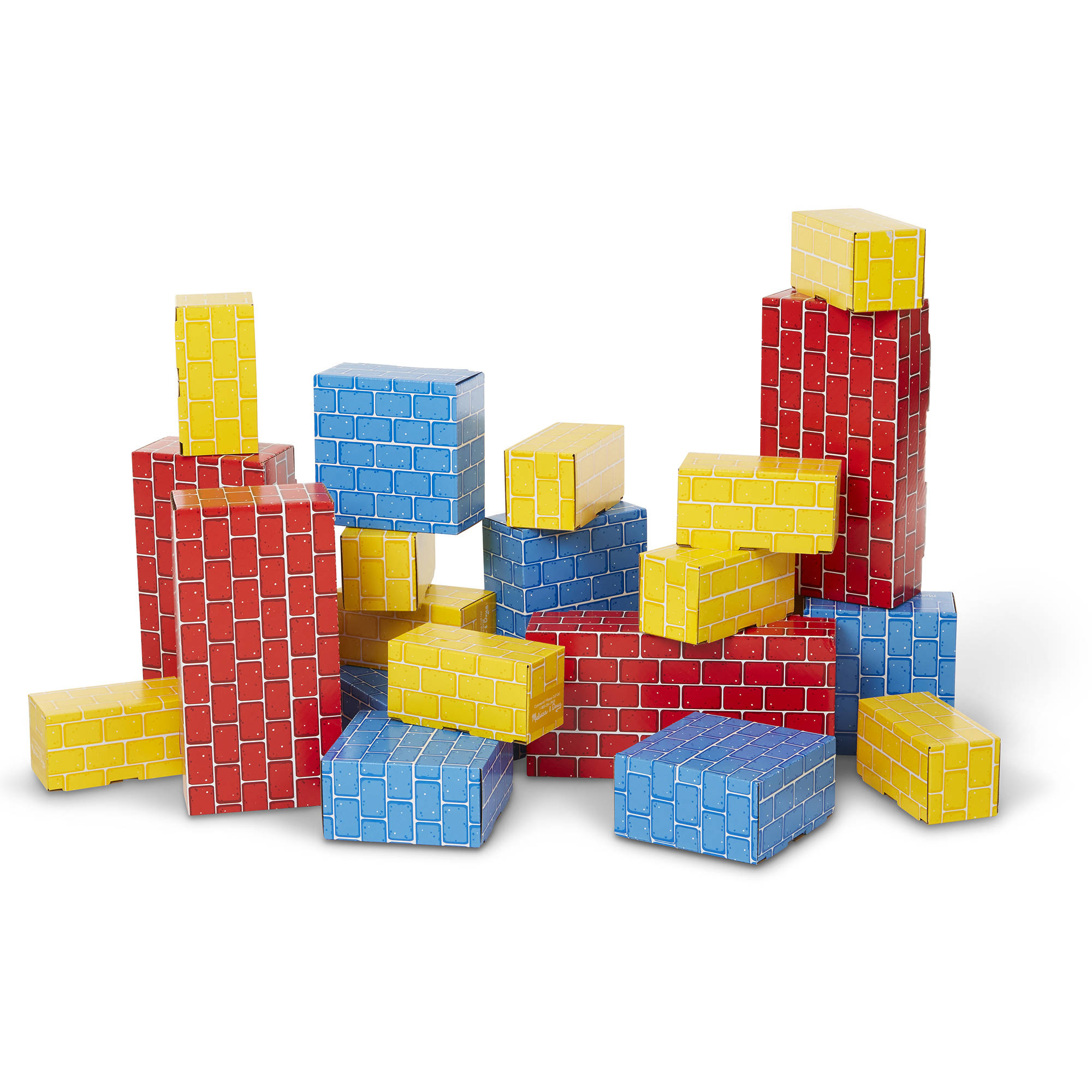 Melissa & Doug Extra-Thick Cardboard Building Blocks 24 Blocks in 3 Sizes by Melissa and Doug