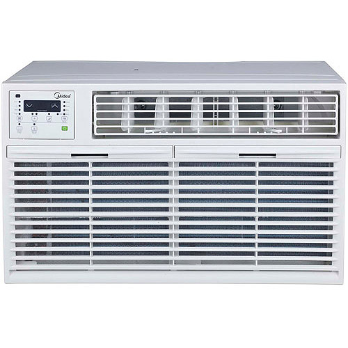 Air conditioner with supplemental 8 600 btu heater and remote control
