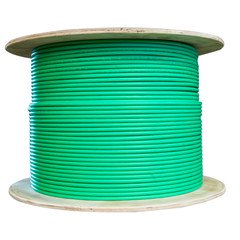 Bulk Dual Cat6 and Dual RG6U Quad Shield with Green Outer Jacket, Spool, 500 foot