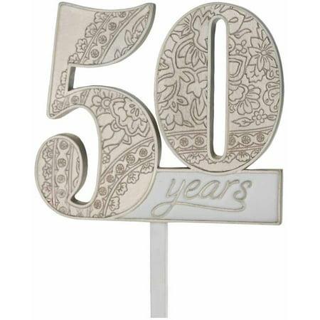 50Th Anniversary Cake Pick - 50th Anniversary Cake