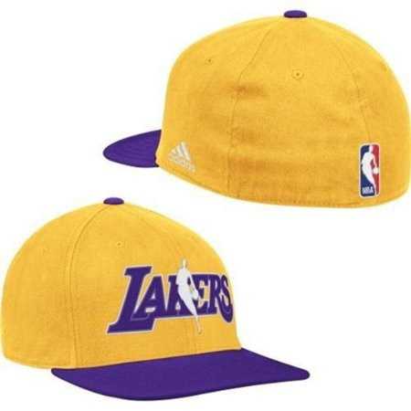 Flex Fit Pinstripe Hat - Los Angeles Lakers NBA Logo Adidas CLIMALITE Flex Fit Hat Large / X-Large XL Best Fits 7 3/8 through 7 3/4 Authentic & New
