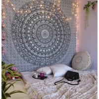 Product Image Black And White Indian Wall Hanging Hippie Tapestry Boho Mandala Tapestries Decorative College Dorm Bohemian