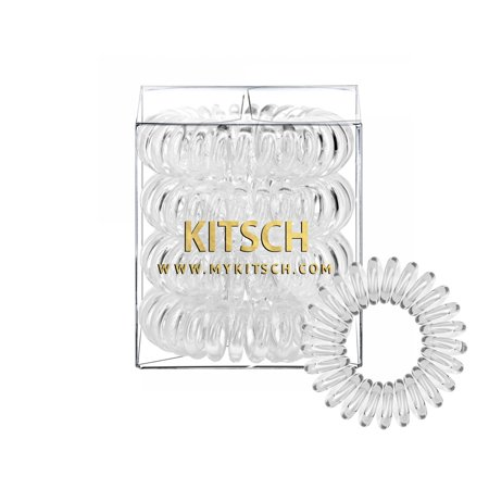 Kitsch 4 Piece Hair CliquidSet, Top Rated & Best Value Phone Cord Hair Tie,