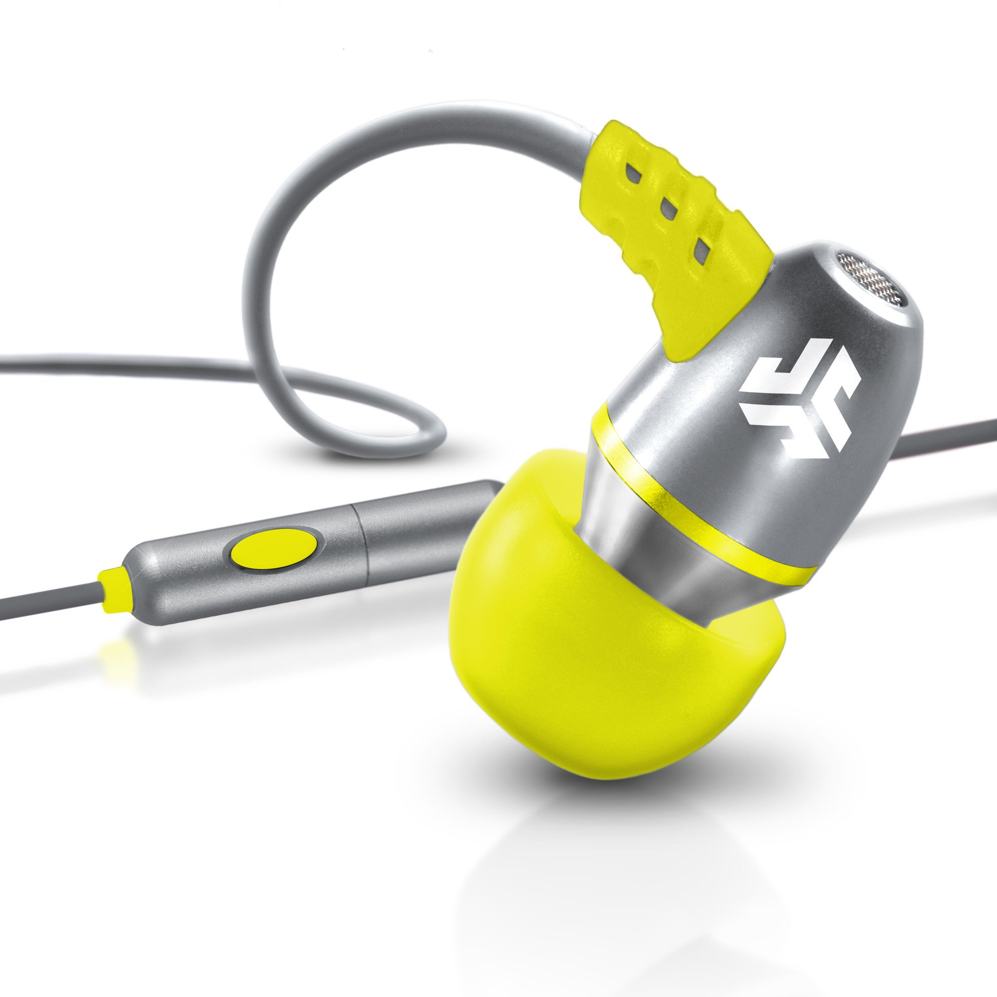 JLab Audio JBuds Metal Earbuds with Microphone - Gray / Yellow