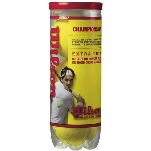 Wilson Championship Extra Duty Tennis Balls - 1 Can of 3 Balls