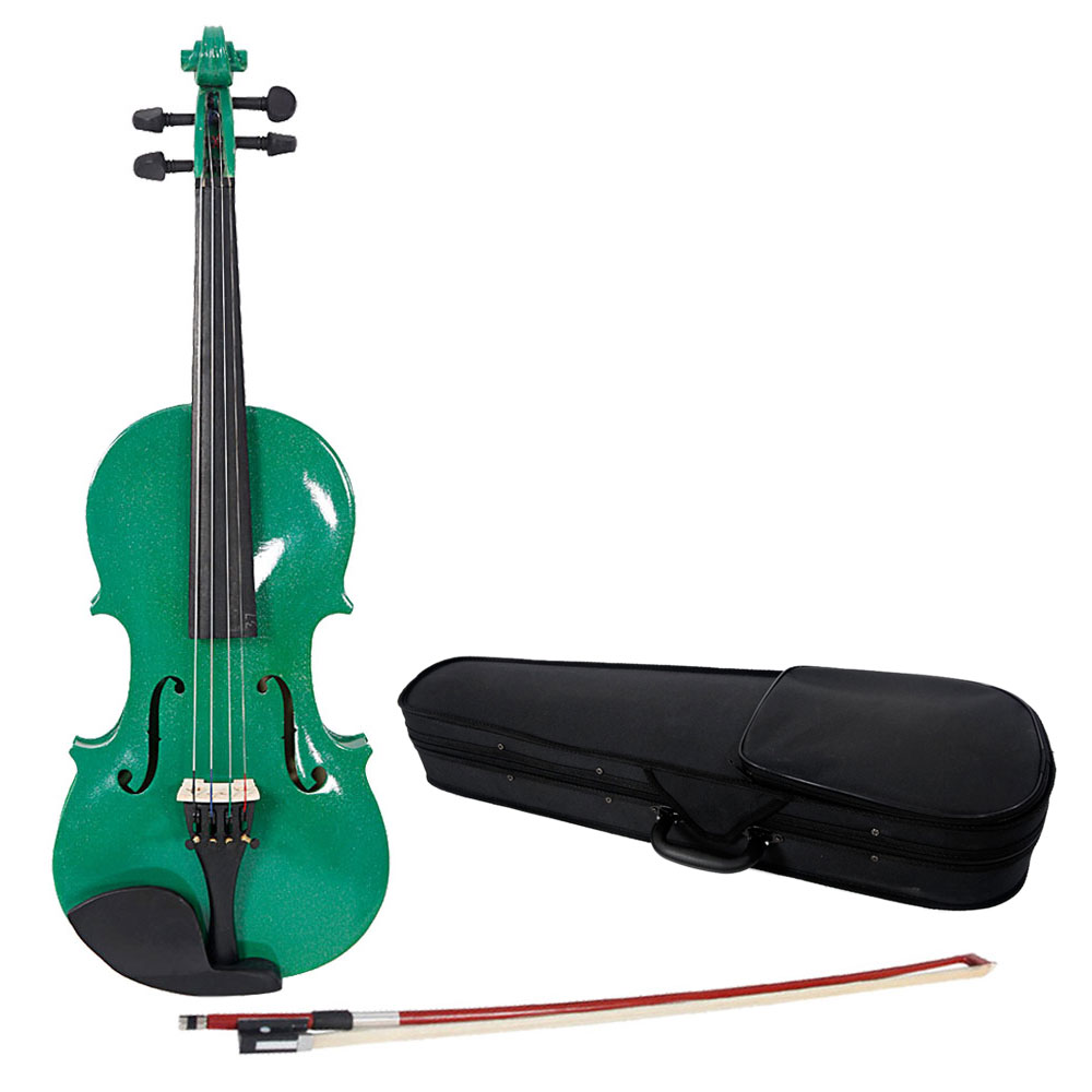 Ktaxon 1/8 Size Handcrafted Solid Wood Violin with Bow, Rosin, Case for kids who are 4-5 years old