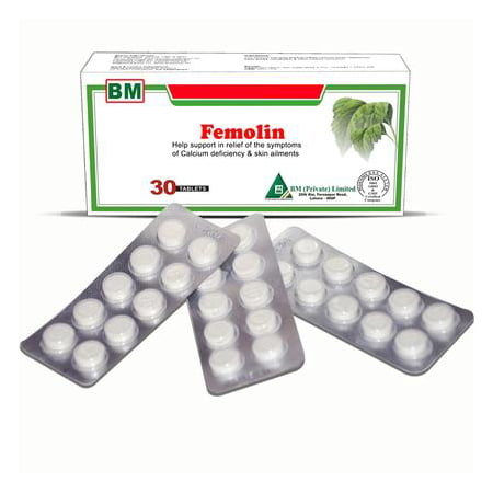 Femolin, 30 tablets, A Natural Supplement to Promote Regular Menstrual Cycles & Support Balanced Hormone Levels, Helps Relieve Painful Periods & Cramps, Normalizes Heavy or Insufficient