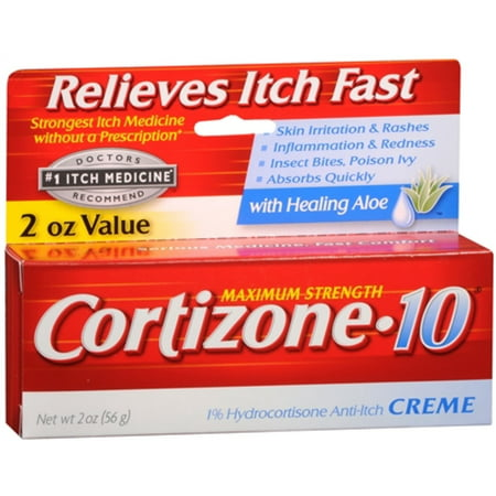 Cortizone-10 Force maximale Anti-Itch Crème à l'Aloe 2 oz