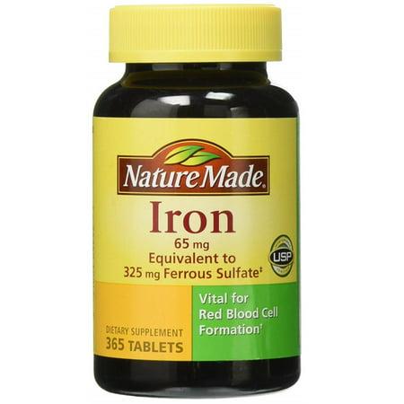 Nature Made Iron 65mg (365 (65mg Tabs)
