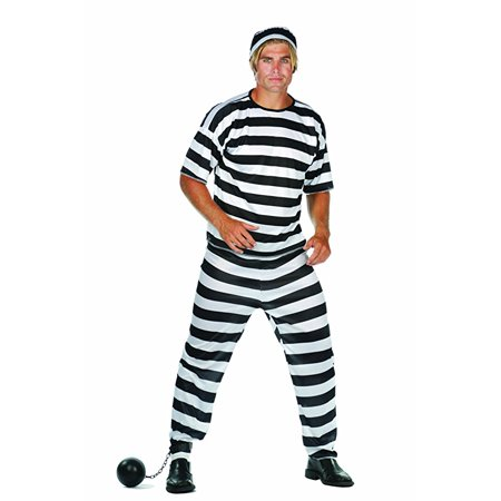 Convict Man Costume