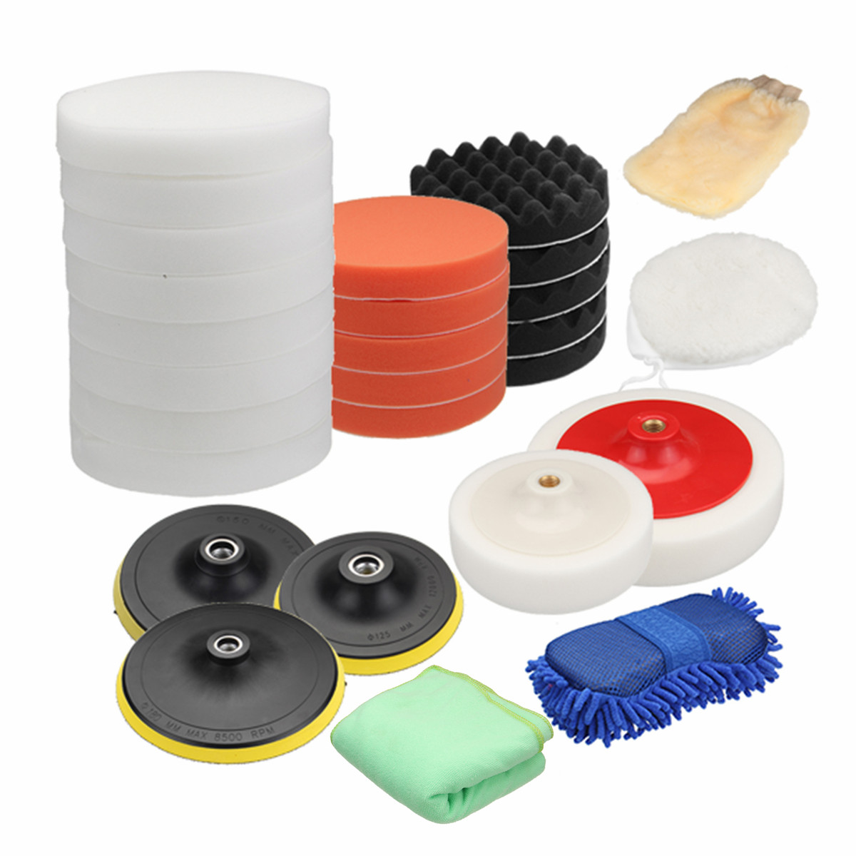 "4+1 Polishing Buffing Clean Kits For Car Polishing Clean Polish Buffing 7/"" 180mm"