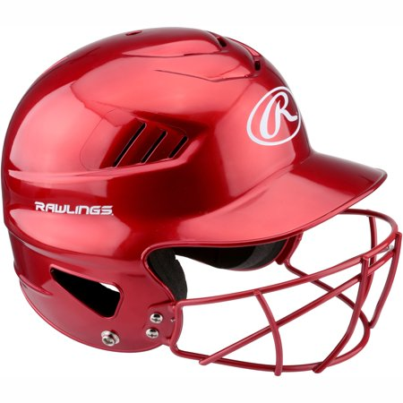 Rawlings Vapor Baseball Batter's Helmet with Face Guard, (Baseball Base Coachs Helmets)