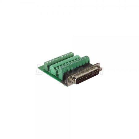L-com DGB Series DB25 Male Connector for Field Termination (Screw (Termination Terminal)