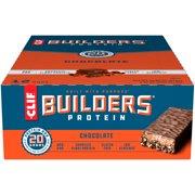CLIF Builders Protein Bars, Gluten Free, 20g Protein, Chocolate, 12 Ct, 2.4 oz