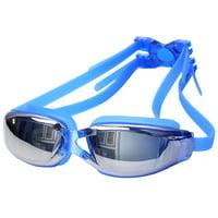 Unisex Waterproof Anti-fog Silicone UV Protection Adjustable Swimming Goggles