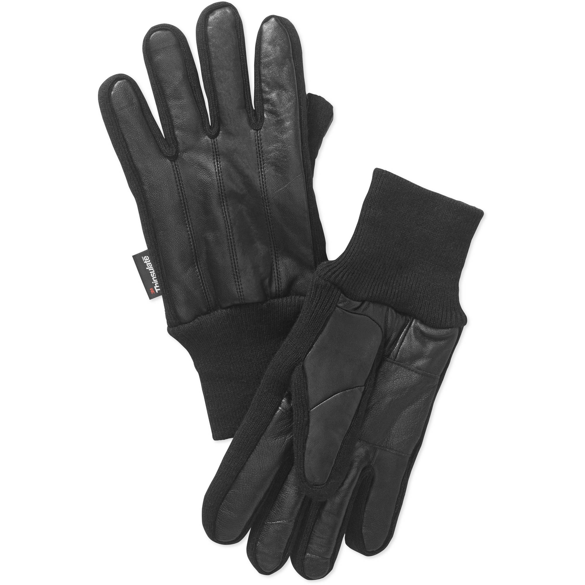 Insulated leather motorcycle gloves - George Men S Sandwich Glove