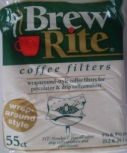 Brew Rite Wrap Around Percolator Coffee Filters 55 Count by Rockline