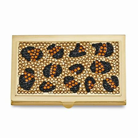 - Leopard Swarovski Crystal Business Card Case
