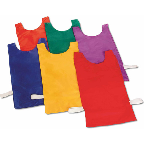 Nylon Pinnies, 1 Dozen, Red