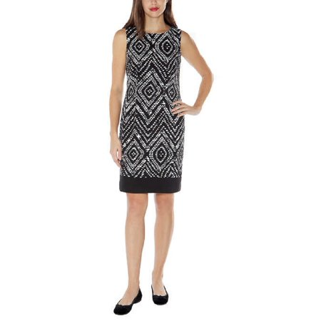 Mario Serrani Mario Serrani Womens Sleeveless Shift Dress 10