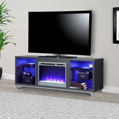 Latitude Run Ilyse 65 TV Stand with Fireplace Walmart