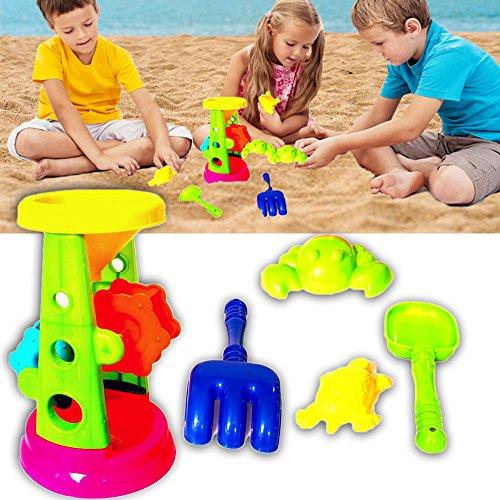 Dazzling Toys Beach sandbox Tool Playset Includes Double Sand Wheel 5 Piece Set by dazzling toys