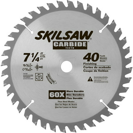 Skil 7 14 40 tooth carbide tipped circular saw blade 75740w skil 7 14 40 tooth carbide tipped circular saw blade greentooth Images