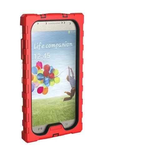 Samsung Galaxy S4 - Shockdrop Series - Red-Black