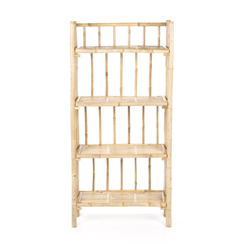 Bay Isle Home Porter 4 Tier Bamboo 53'' Etagere Bookcase by