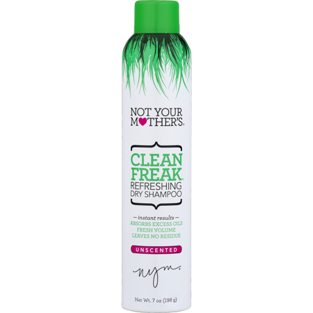 Not Your Mother's Clean Freak Refreshing Dry Shampoo Spray, Unscented, 7 (Extra Gentle Dry Shampoo)