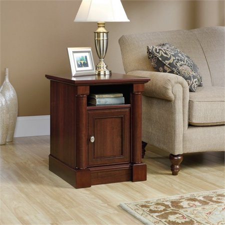 Pemberly Row End Table in Cherry Cherry Square Butterfly Table