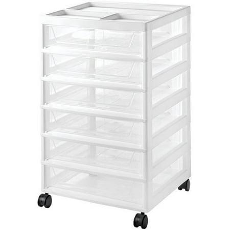 Iris 6 Drawer Scrapbook Storage Cart White Walmart