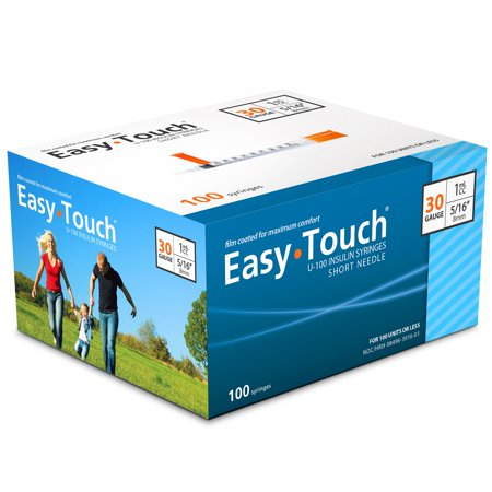 Easy Touch Insulin Syringes 30 Gauge 1cc 5/16 in - 100 ea](Party Shooter Syringe Shots)