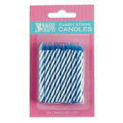 Striped Birthday Candles (24)