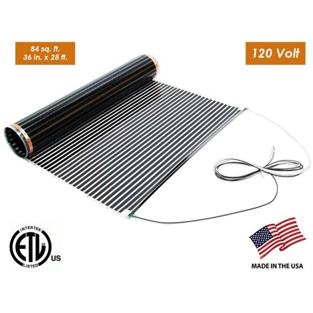 Underfloor Electric Radiant Heat Film 36 in. x 28 ft. (84 sq. ft.), 120-Volt Mat for Heating Floating Laminate and Engineered Wood Floors - For Other Sizes Search For