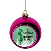Mommy Ornament - Baby 1st Mother Ornament Christmas Décor Hanging Christmas Ornaments Pink Christmas Ornaments Unique Modern Novelty Tree Décor Favors Bauble Balls