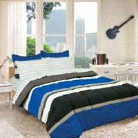 Campus Colors Rugby Stripe Reversible Bed in a Bag by Royale Linens