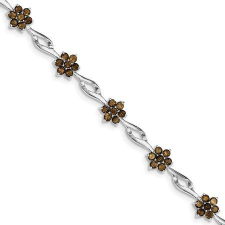 Roy Rose Jewelry Sterling Silver Smoky Quartz Bracelet 7''