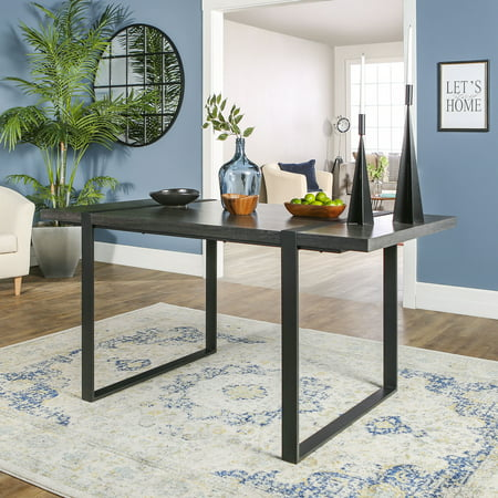 Manor Park Industrial Metal and Wood Dining Table - Charcoal ()