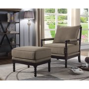 Best Master Furniture West Palm Accent Chair with Ottoman