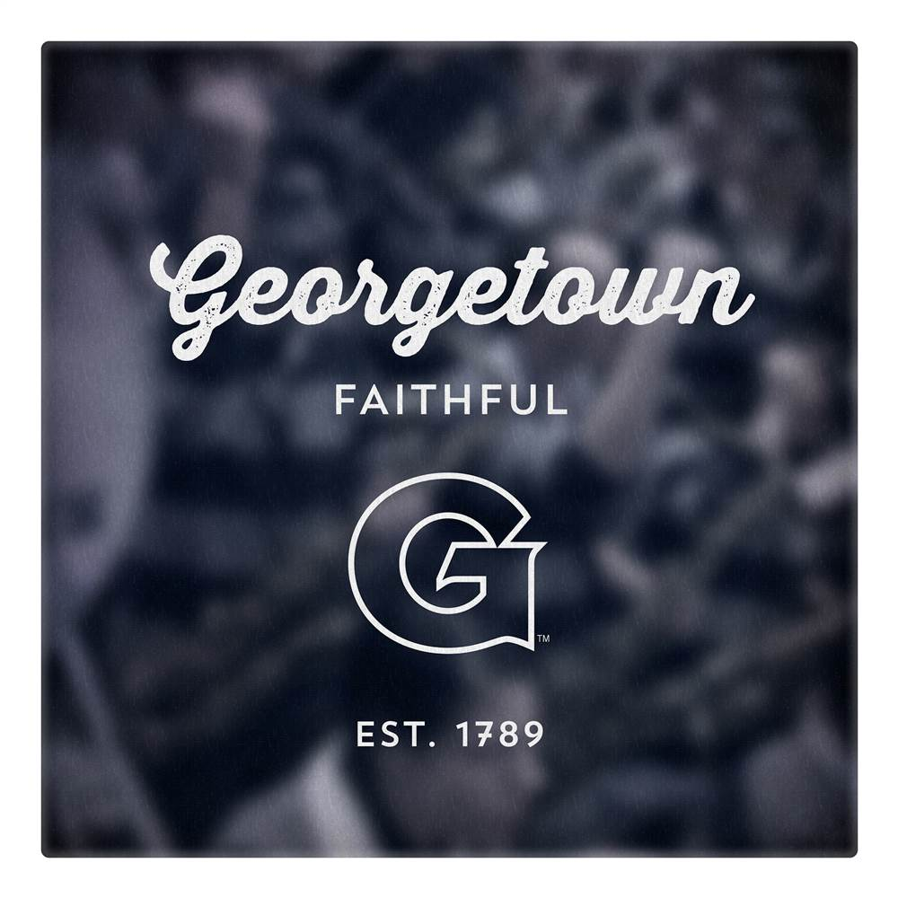 Canvas of Georgetown University Logo Art