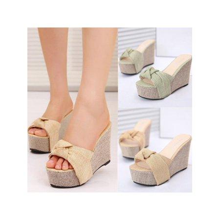 d793202c9e00 Meigar - Meigar Summer Women Platform High Heel Sandals Beach Flip Flops -  Walmart.com
