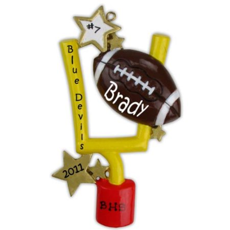 1 X Football Personalized Christmas - Personalized Football Ornaments