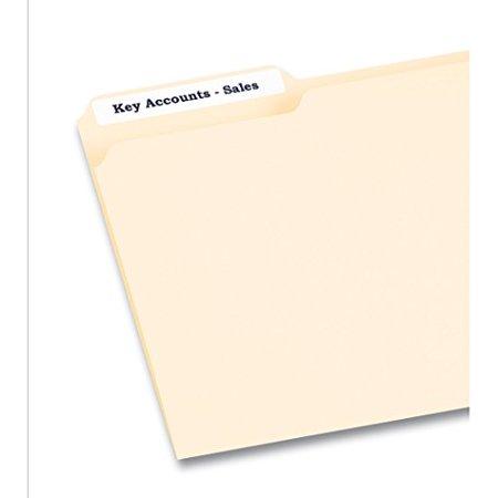 Averyr White File Folder Labels For Laser And Inkjet Printers 8366