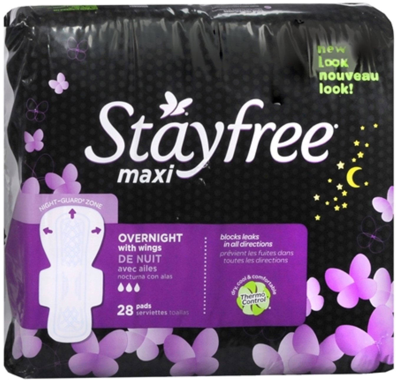 STAYFREE Maxi Pads Overnight With Wings 28 Each (Pack of 4)