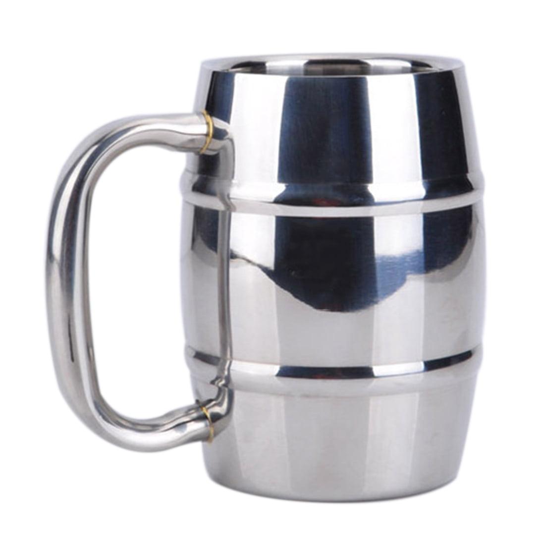 300ML Stainless Steel Beer Mug Double Wall Air Insulated Beer Beverage Mug Coffee Cup by