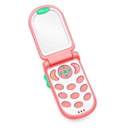 Infantino Flip & Peek Fun Phone, Pink (Baby Phone)