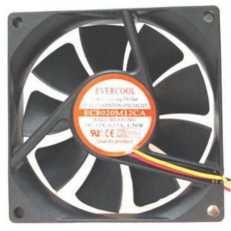 Evercool 80mm X 20mm Dc Fan 2500 RPM Ec8020m12ca - image 1 of 1